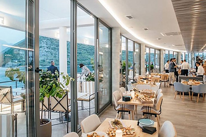 Our restaurant is perfectly located with amazing terrace views on Boka Bay Montenegro